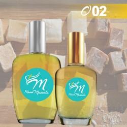 Perfume masculino con notas de salida dulces y especiadas