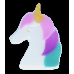 Jabón de glicerina con forma de unicornio