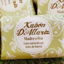 jabón con leche de burra y manteca de karité