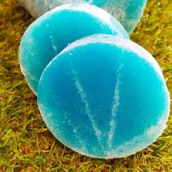 Jabón de glicerina con núcleo de esponja