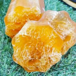 Esponja vegetal exfoliante con jabón de glicerina