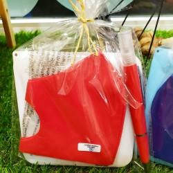 Pack Rojo: Mascarilla, caja...