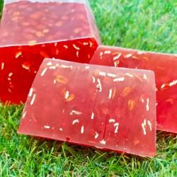 jabón de glicerina con jugo de pomelo y avena exfoliante