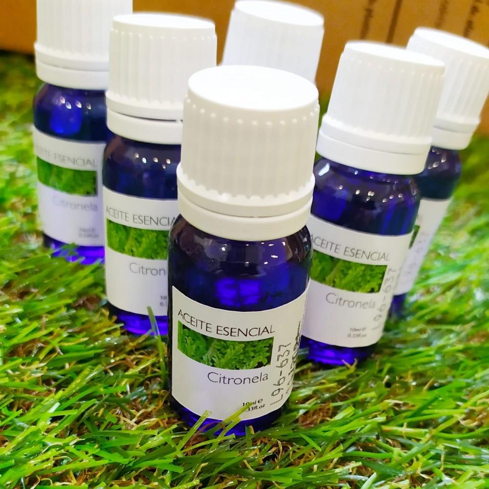 Aceite esencial de citronela, repelente de insectos