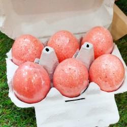 Huevo de baño efervescente con aroma a fresas