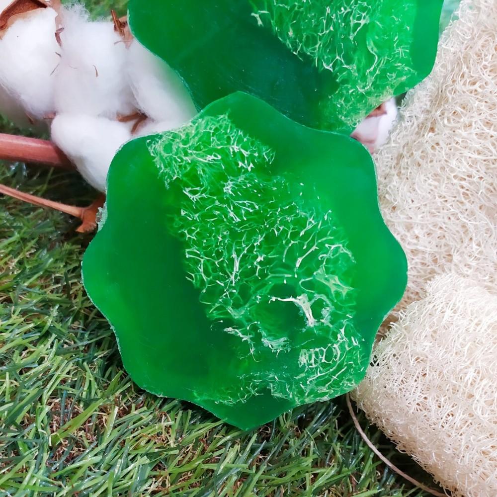 Exfoliante natural con lufa vegetal
