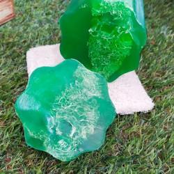 Esponja vegetal con jabón de glicerina