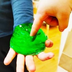 Jabón de glicerina con textura gelatinosa