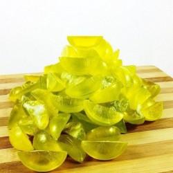 Jabón de glicerina en forma de gajo de limón