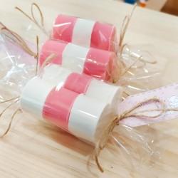 Detalles para eventos: jabones de rosa y coco