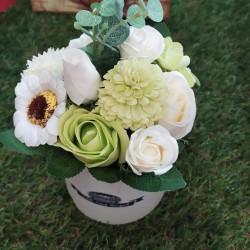 Flores de jabón para deshacer en el agua