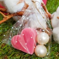 Jaboncitos para invitados con perlas de aceite