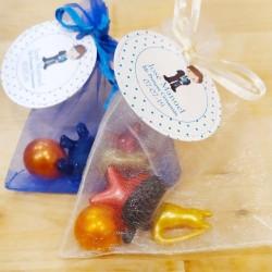 Detalles para eventos, bolsa de organza con perlas de baño y jaboncitos