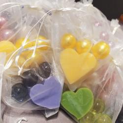 perlas de baño y jabones, detalle original para eventos