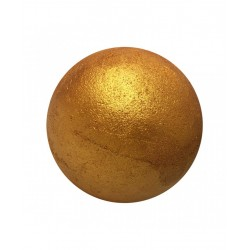 Bomba de baño con efectos dorados brillantes
