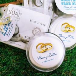 Jabón en láminas para regalar en tu boda