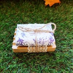 Jabón y jabonera de caoba