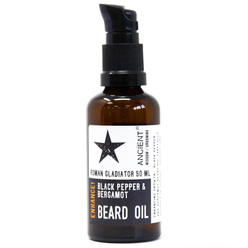 Aceite natural para suavizar la barba