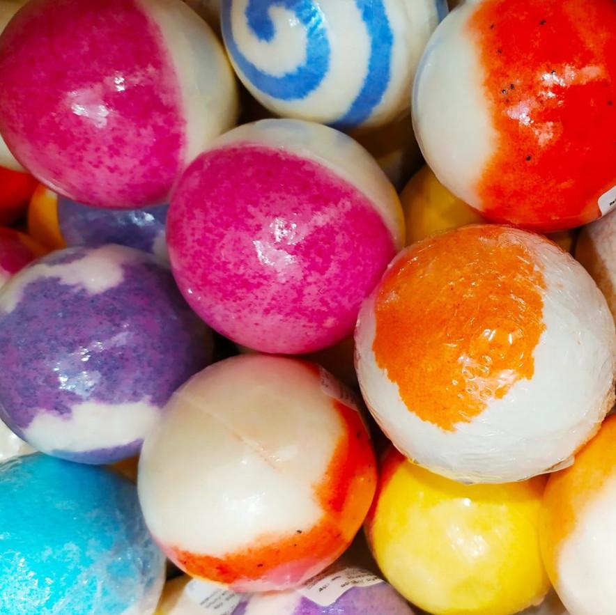 Bolas aromáticas para el baño