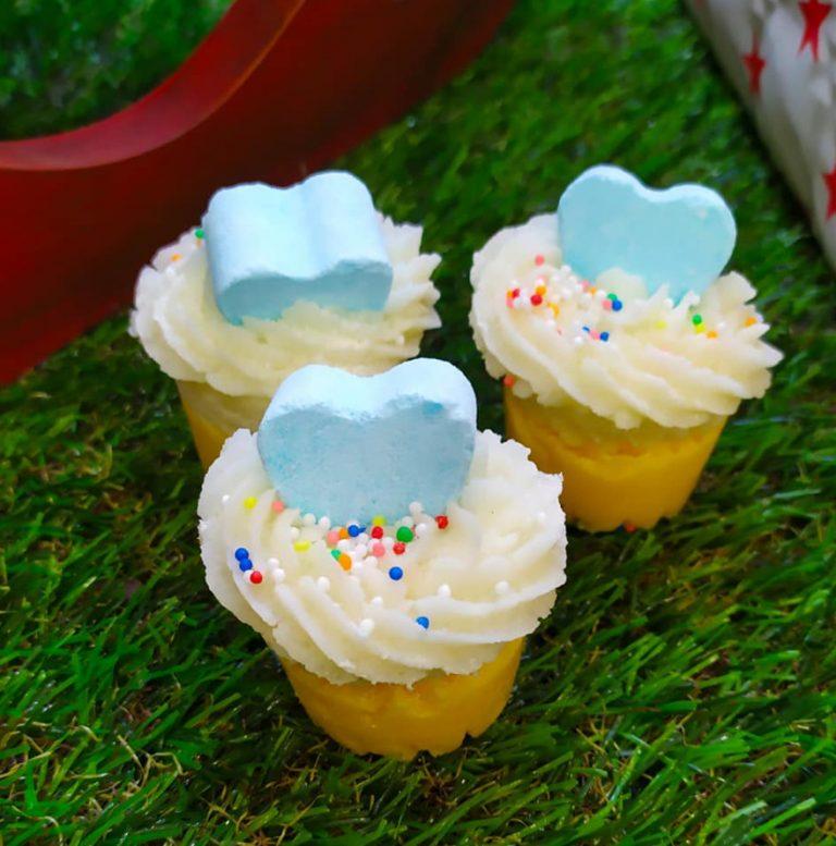 Mantecas para baño en forma de cupcake… ¡Huelen tan bien que dan ganas de comérselas!