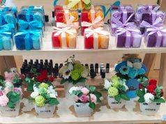 Flores de jabón para regalo