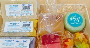 Ideas para hacer regalos con cestas de jabones combinados
