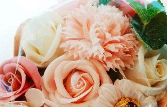 Flores de jabón aromático.